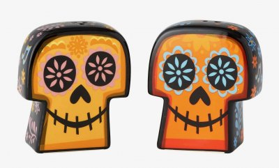 Day of the Dead 2-sided skulls salt and pepper shaker set from Disney/Pixar's 'Coco'