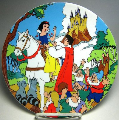 Happily ever after decorative plate (Snow White)