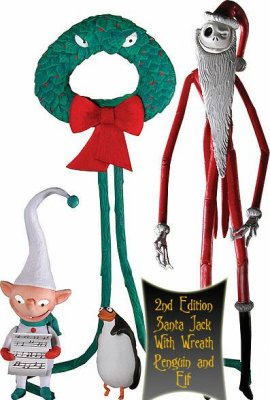 Santa Jack action figure, with elf from our Nightmare Before Christmas ...
