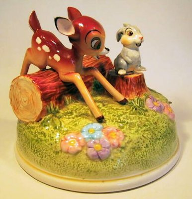 Bambi And Thumper Musical Figure From Our Schmid Bros
