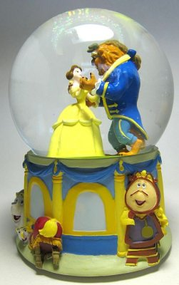 Beauty and the Beast musical snowglobe