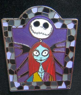 Jack Skellington And Sally Mosaic Frame Pin From Our Pins Collection