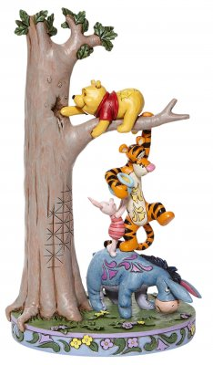 'Hundred Acre Caper' - Winnie the Pooh and friends figurine (Jim Shore Disney Traditions)