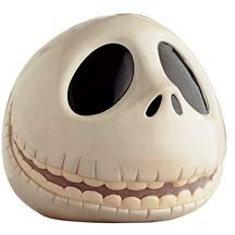 Jack Skellington head cookie jar