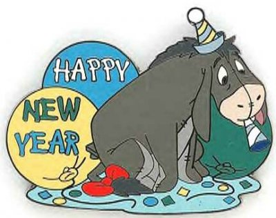 eeyore happy new year pin