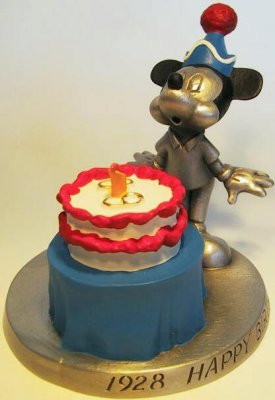 Mickey Mouse's 60th birthday pewter figure
