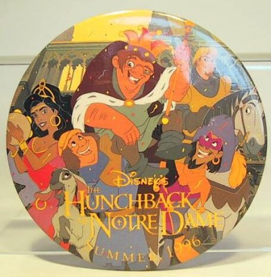 The Hunchback of Notre Dame - Summer '96 button
