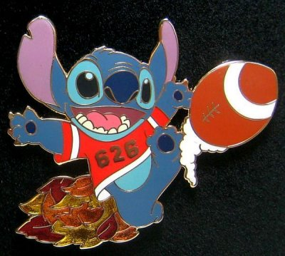 Stitch Kicking Football Pin Autumn Pin Set From Our Pins