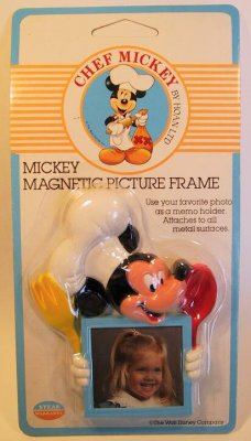 Chef Mickey Mouse photo frame magnet