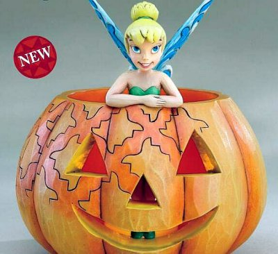 A pixie treat Tinker Bell and pumpkin figure (Jim Shore Disney Traditions)