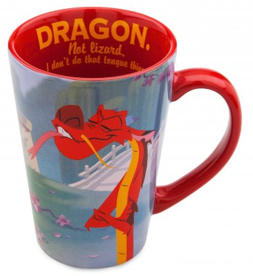 'Dragon. Not Lizard. I Don't Do That Tongue Thing' - Mushu Disney coffee mug