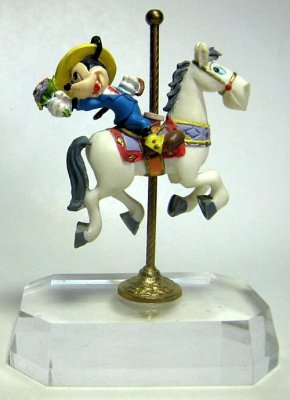 mickey mouse on carousel horse figure from our other