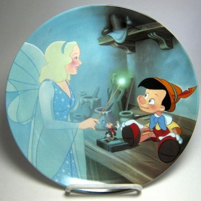 Pinocchio and the Blue Fairy decorative plate
