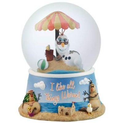 'I like all things warm' - Olaf the snowman snowglobe (from 'Frozen')