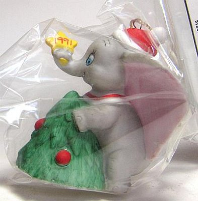 The Christmas Tree 1991.Dumbo With Christmas Tree 1991 Ornament From Our Christmas