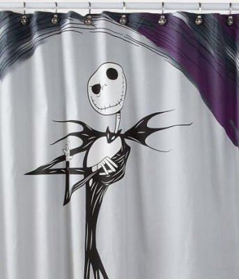 Jack Skellington Shower Curtain From Our Nightmare Before Christmas Bathroom Accessories Collection