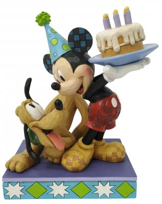 'Happy Birthday, Pal!' - Mickey Mouse and Pluto birthday cake figurine (Jim Shore Disney Traditions)
