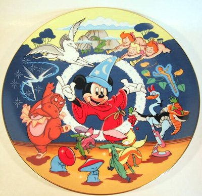 Mickey Mouse and the Fantasia cast Disney plate