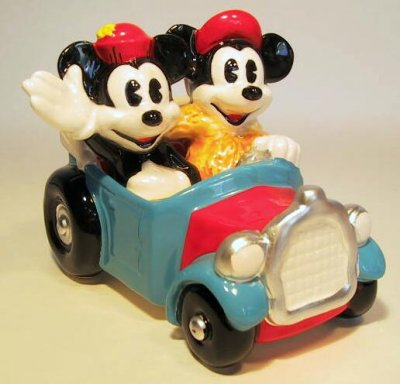 Mickey Mouse And Minnie Minnie In Jalopy Figurine From Our