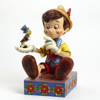 Just give a little whistle - Pinocchio & Jiminy Cricket figurine (Jim Shore Disney Traditions)