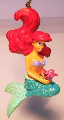 Ariel with flower storybook glitter ornament (2nd series)
