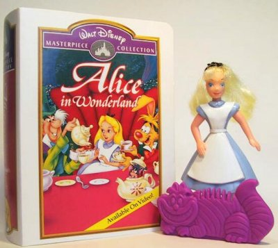 Alice with Cheshire Cat stand/comb fast food toy