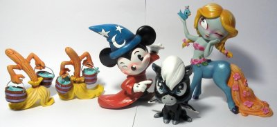 Set of five figurines from Disney's 'Fantasia' (Miss Mindy) (NO BACKDROP INCLUDED)