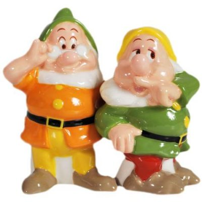 Doc and Sneezy magnetized salt & pepper shaker set