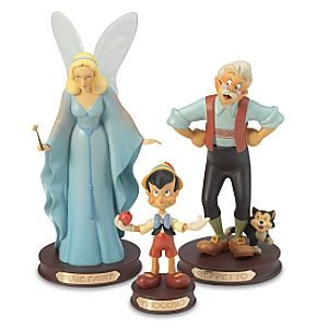 pinocchio geppetto amp figaro and blue fairy set of 3