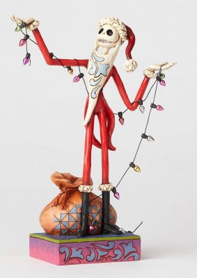 'Wrapped Up In Christmas Spirit' - Santa Jack Skellington figurine (Jim Shore Disney Traditions)