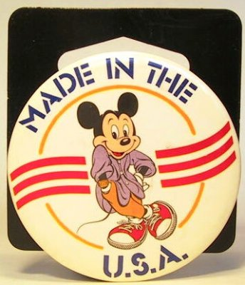 Made in the USA Mickey Mouse button