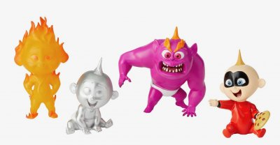 Set of 4 Jack-Jack Parr 'Grand Jester' figurine (from Disney-Pixar's 'The Incredibles 2')