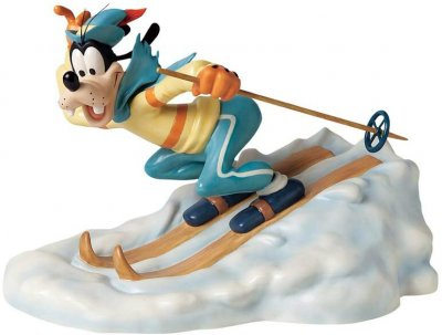 'All downhill from here' - Goofy figurine (WDCC)