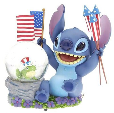 Stitch Patriotic Musical Snowglobe From Our Snowglobes And