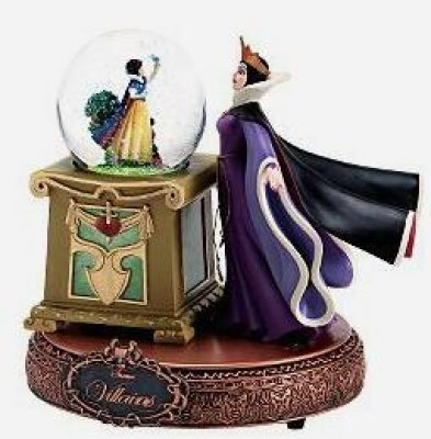 Evil Queen With Snow White In Musical Mini Snowglobe From