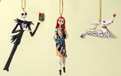 Nightmare Before Christmas ornament set, with Jack & Sally & Zero ...