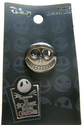 Barrel mask pewter lapel pin