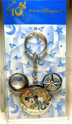 Disney Cookie Jars >> Tokyo Disney Sea 10th anniversary keychain, featuring Mickey Mouse Sorcerer's Apprentice from ...