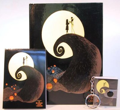 Jack Skellington & Sally diary, pad and keychain set from