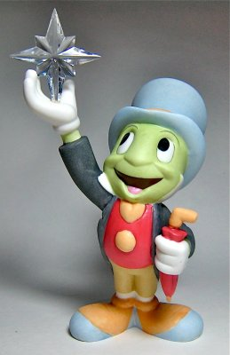 'Reach For The Stars' - Jiminy Cricket figure