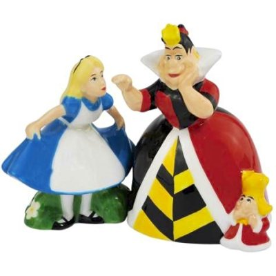 Alice in Wonderland & Queen and King of Hearts magnetized salt and pepper shaker set (Westland)