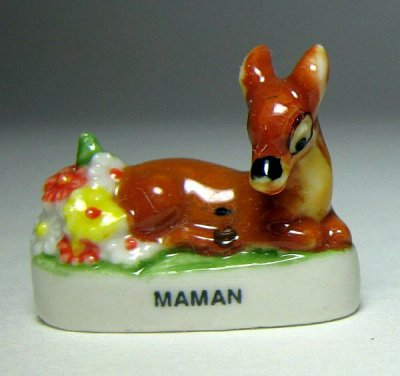 Bambi's mother (with flowers) porcelain miniature figure