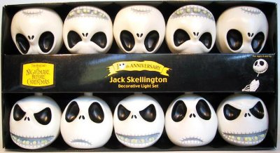 jack skellington head lights set 1 - Nightmare Before Christmas Lights