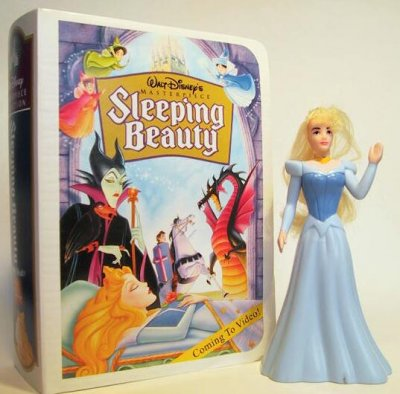 princess aurora fast food toy from our fast food toys