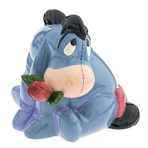 Eeyore with rose cookie jar