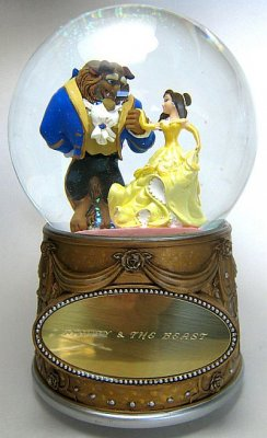 Beauty and the Beast musical snowglobe (with plaque)