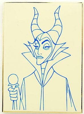 'How To Draw Maleficent' Disney pin