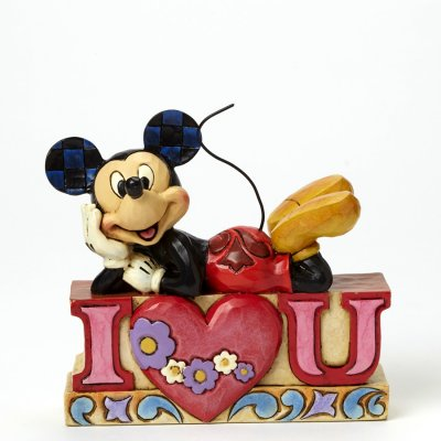 'I Love You' - Mickey Mouse figurine (Jim Shore Disney Traditions)