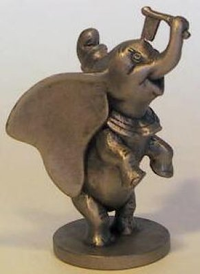 Dumbo standing pewter figure