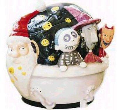 Sandy Claws Lock Shock Amp Barrel In Tub Cookie Jar From